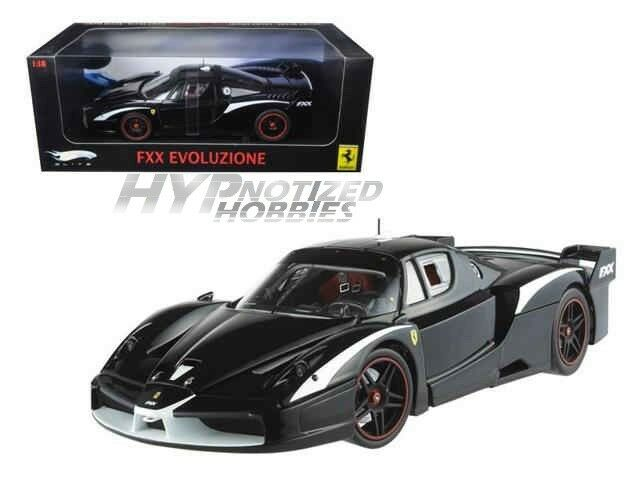 Hot Wheels 1 18 ELITE FERRARI FXX EVOLUTION moulé sous pression noir T6249