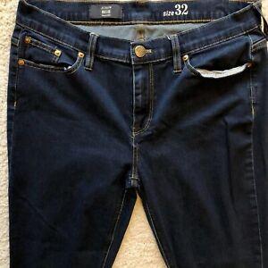 J-Crew-Reid-Jeans-Size-32-Women-039-s-Skinny-Slim-Dark-Wash-Denim-Stretch-A8754