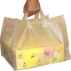 100 St Tragetaschen für Tortenkartons und Pizzakartons40+34+34×30cm