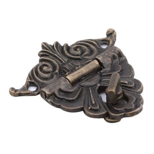Retro Chic Latch Catch Jewelry Wooden Box Lock Hasp Pad Chest Lock DB