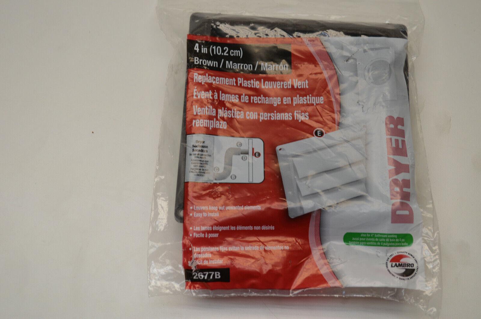 Lambro 2677B dustries Plastic Louvered Vent Hood