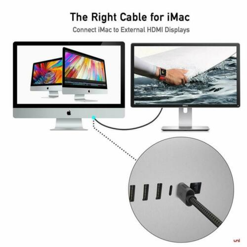 Usb C To Hdmi Cable Usb Type-C To Hdmi Cable Thunderbolt 3 Compatible 4K@60Hz