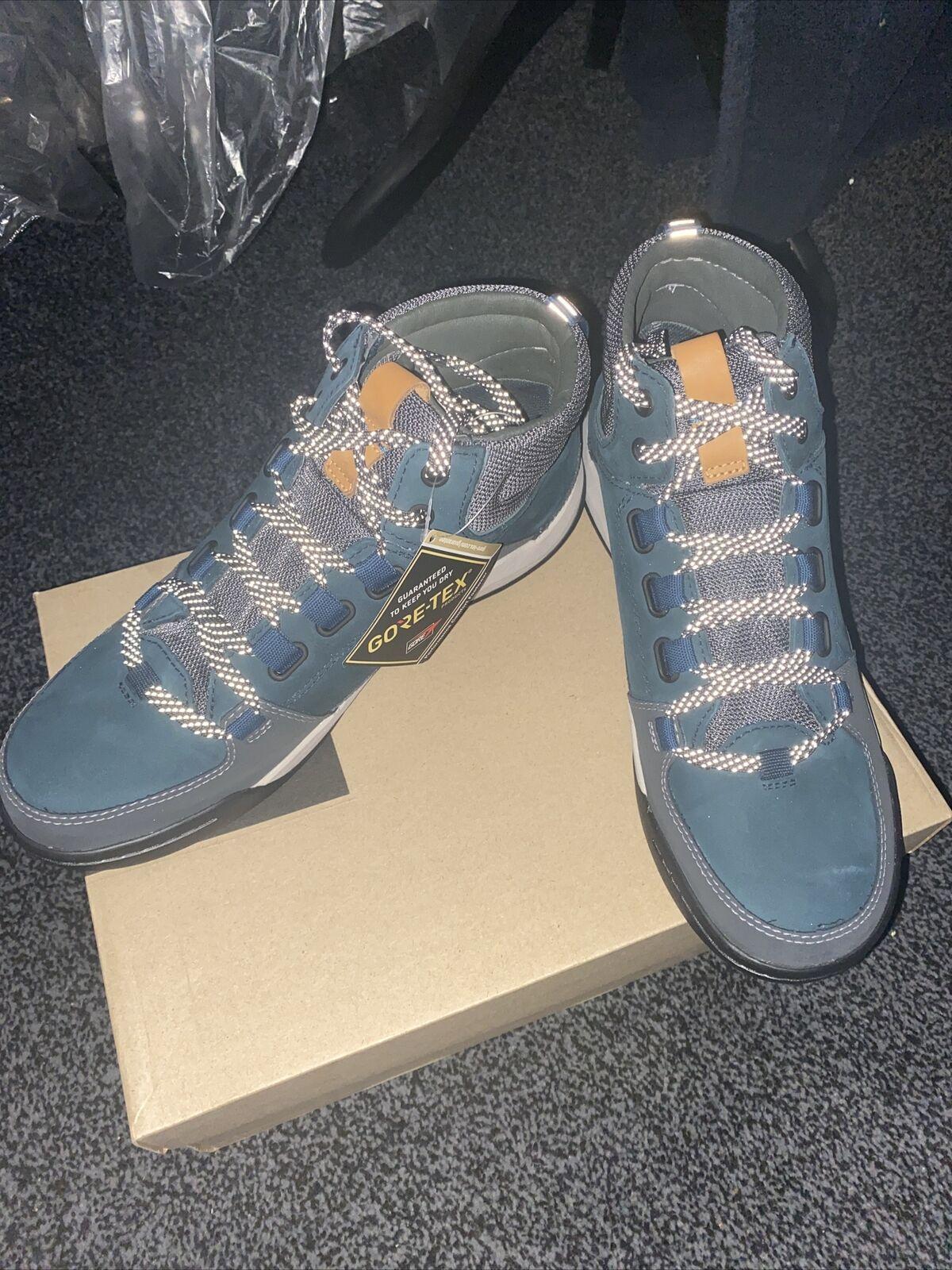 Clarks BNIB Mens Walking Hiking Boots ASHCOMBE ARK GTX Dark Teal Leather UK 8