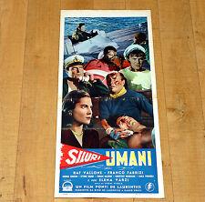 SILURI UMANI locandina poster Raf Vallone Fabrizi Marina Isola Stampalia War F71