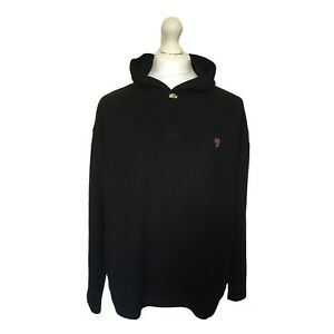 Womens-Retro-Fat-Face-Black-Hooded-Jumper-Toggle-Cotton-Mix-UK-Size-18-EXC-CON