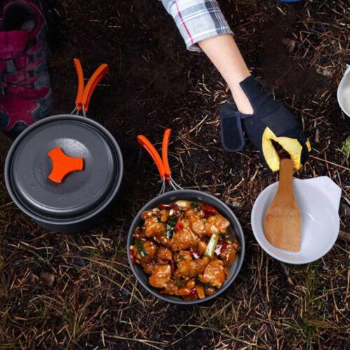 Camping Kochgeschirr Set 2-3 Personen Camping-Kochtopf Set aus Edelstah set