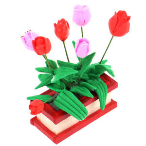 1-12-Dollhouse-Miniature-Mini-Tulip-Model-DIY-Furniture-Accessories-Toy-YK
