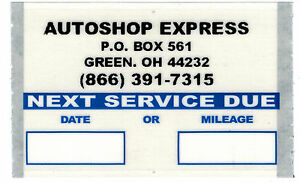 Details About Custom Oil Change Stickers 1000 Roll Orl10001