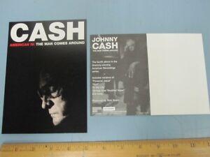 johnny cash 2002 american iv man comes around promo postcard new old