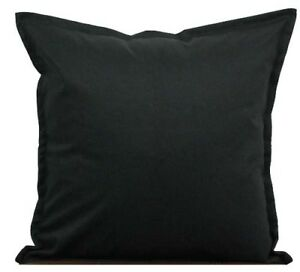 Image Is Loading Two Black Throw Pillows With Insert Cotton Cushion