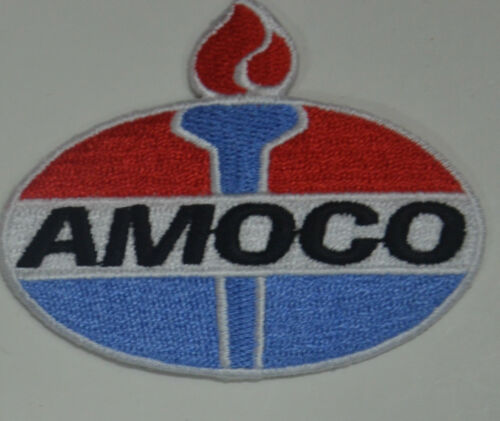 AMOCO MOTOR RACING OVERALLS EMBROIDERED PATCH SEW ON GASOLINE PETROL GAS