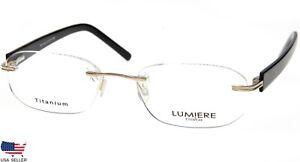 NEW-LUMIERE-EYEWEAR-504-COL-4-GUNMETAL-EYEGLASSES-GLASSES-51-17-140-B31mm-Italy