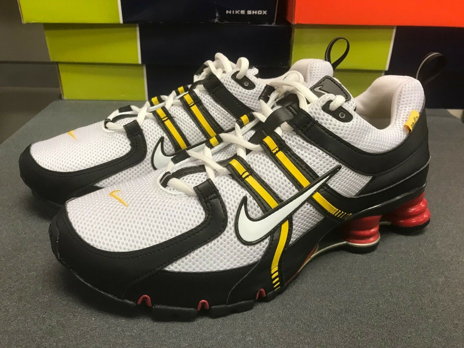 Mens Nike Shox NZ Premium Sneakers New, LANCE ARMSTRONG 317420-111 sku AA