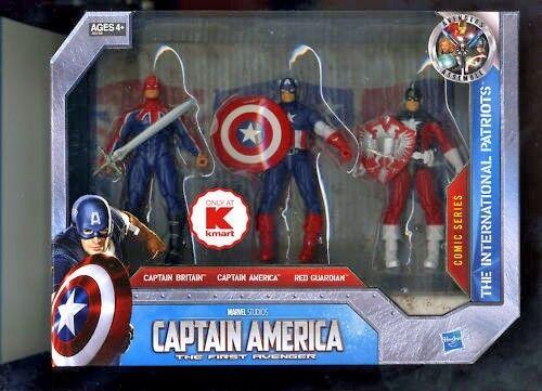 Captaine AMERICA ([ENDAST KMANT] KAPITANNEN BRITANNEN röd GARARDIAN (3) ÅTGÄRDER