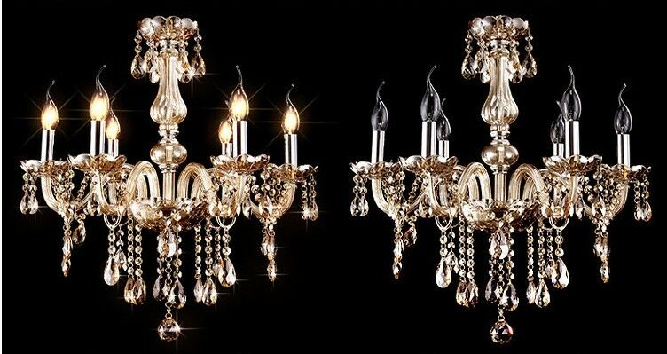 E74 European Style 6 Lights Diameter 55CM  Height 60CM Crystal Chandelier S