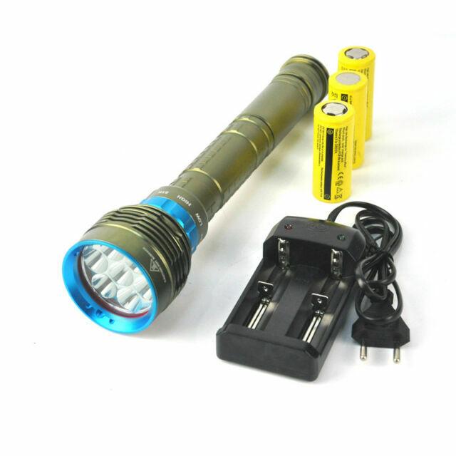 20000LM T6 4X XM-L T6 LED DIVING Snorkelling Flashlight Light Shock-Proof Torch