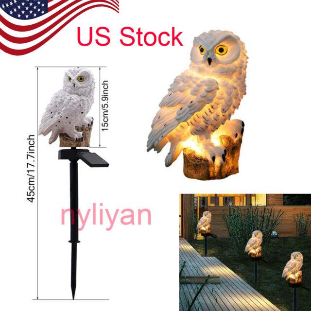 Waterproof Solar LED Light Owl Animal Ornament Lamp Garden Path Lawn Decor HOT