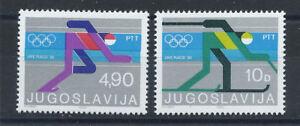 Yougoslavie-N-1704-5-MNH-1980-J-O-de-Lake-Placid
