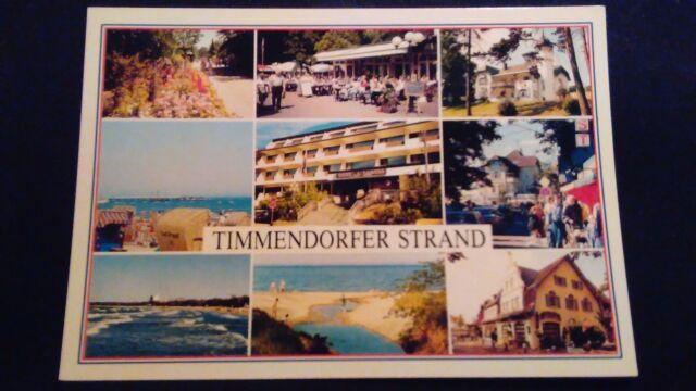Schöne Mehrbild AK Ostseeheilbad Timmendorfer Strand 9 Ans. ungel. um 1975 ts13
