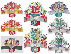 Image Is Loading 3D Pop Up Birthday Cards 18th 21st 30th