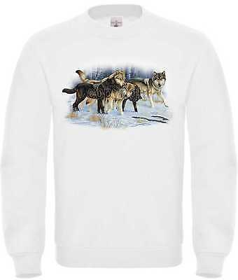 Competente Felpa In Bianco Con Un Animale/natura Motivo Modello Wolfpack Snow-iv Modell Wolfpack Snow It-it Mostra Il Titolo Originale
