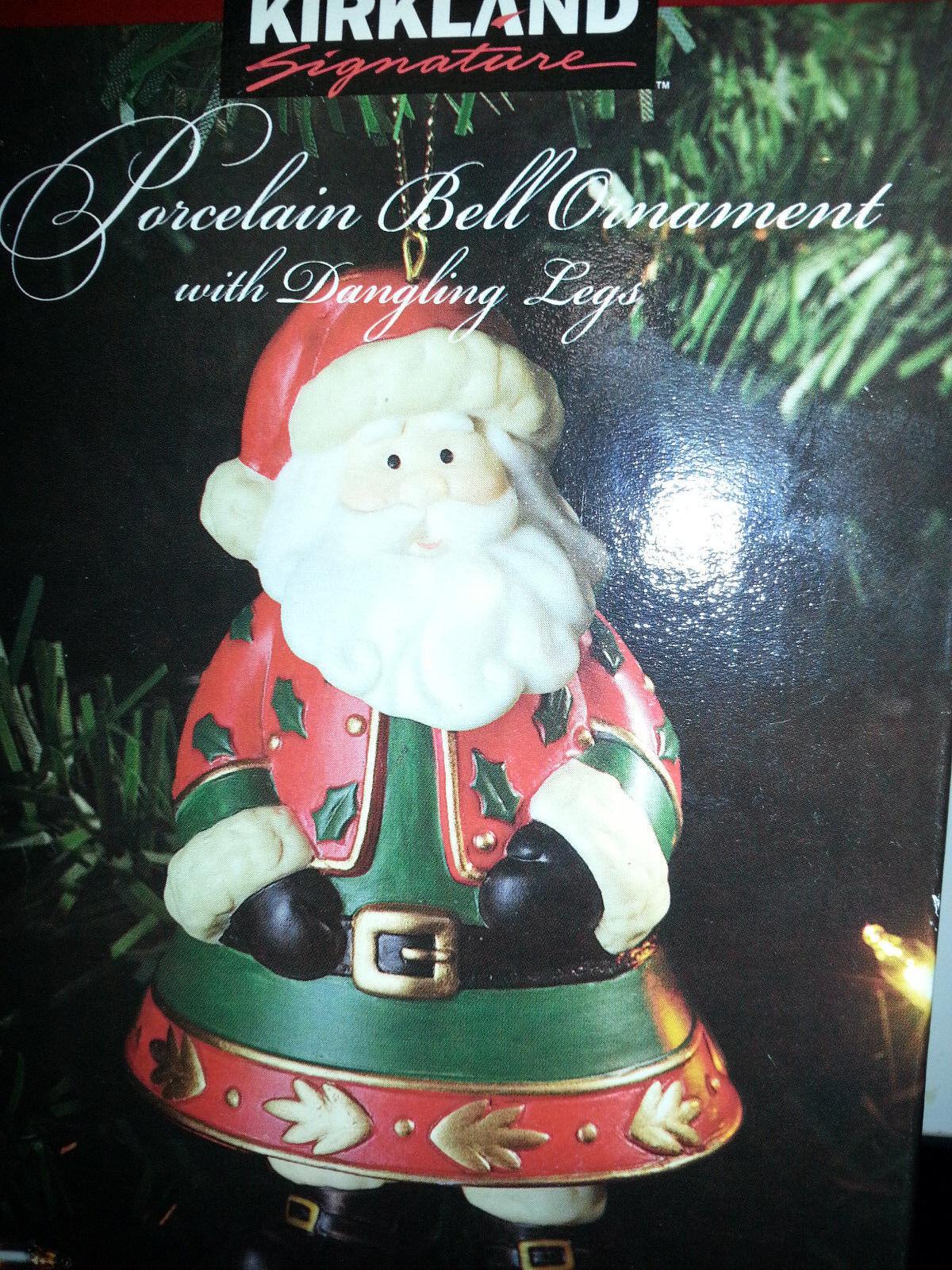 Kirkland Porcelain Christmas Elf Bell Ornament With Dangling Legs ...