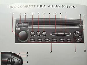 citroen audio xsara picasso rds cd sat nav navigation operating rh ebay co uk xsara+picasso+manual+service xsara picasso manual usuario