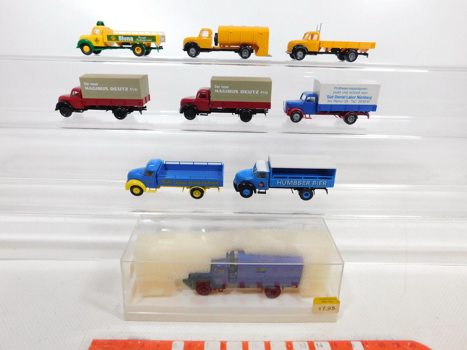 Ca386 - 0,5 x brekina 1  87   H0 camion magirus  4221 thw Ulmer brena