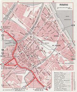 C2654-Pianta-della-Citta-di-Rimini-Mappa-geografica-d-039-epoca-1967-vintage-map