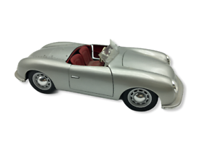 Maisto-Porsche-N-1-tipo-356-1948-Roadster-1-18-Plata-Coche-Modelo-Fundido-a-Troquel