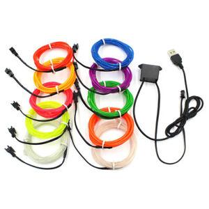 LED-Car-Interior-Atmosphere-Glow-EL-Wire-Neon-String-Strip-Lights-Rope-Tube-Lamp