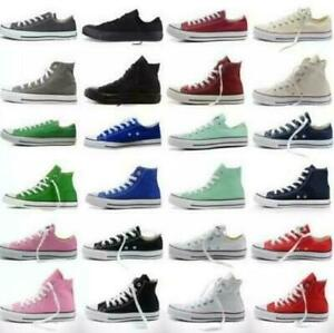 Women-Ladies-Classic-Authentic-Trainer-Low-High-Top-Shoes-Casual-Canvas-Sneakers