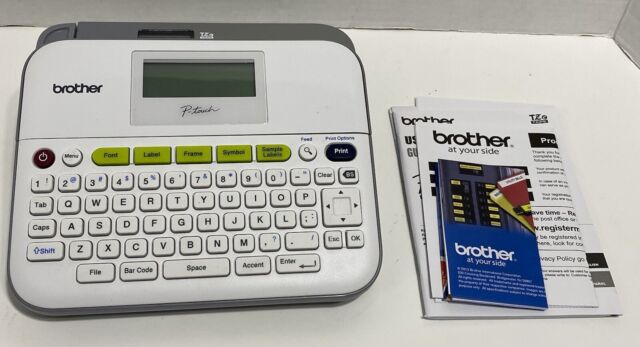 Brother P-Touch PT-D400 Desktop Labelmaker White EZ Tape User Guide Tested Work