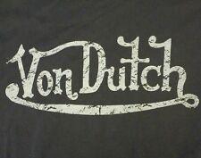 Von Dutch Black Short Sleeve T-Shirt Size Large  Motorcycle Fashion