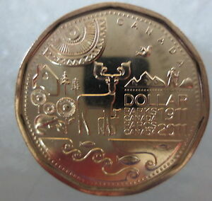 2011-PARKS-CANADA-LOONIE-UNCIRCULATED-FROM-MINT-ROLL