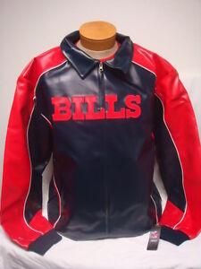 9a714e520dd Image is loading Buffalo-Bills-Faux-Leather-NFL-Jacket-XLT-3XL-