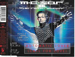 MC-SAR-amp-THE-REAL-McCOY-Automatic-lover-Call-for-love-CDM-4TR-Eurodance-1994