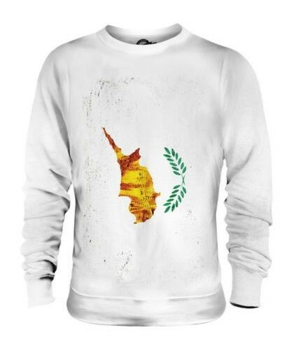 CYPRUS GRUNGE FLAG UNISEX SWEATER TOP KYPROS FOOTBALL CYPRIOT GIFT SHIRT