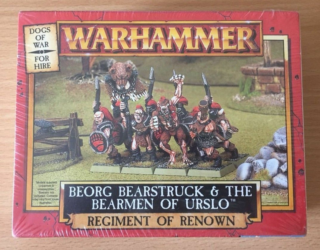 GW 1998 Warhammer Dogs of War Beorg Bearbearst Bearmän Of Urslo Sealead