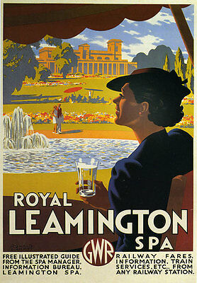TW87 Vintage August Bank Holiday Excursions GWR Railway Travel Poster A1//A2//A3