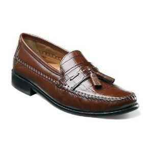 Mens Cognac Slip On Dress Shoes