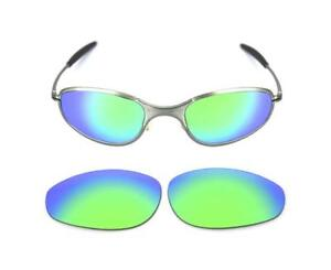 42a4919e236 NEW POLARIZED CUSTOM GREEN LENS FOR OAKLEY A WIRE THICK SUNGLASSES ...