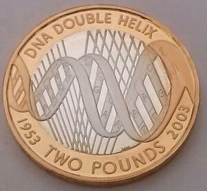 2003-DNA-2-Coin-Silver-Proof-With-COA-Two-Pounds