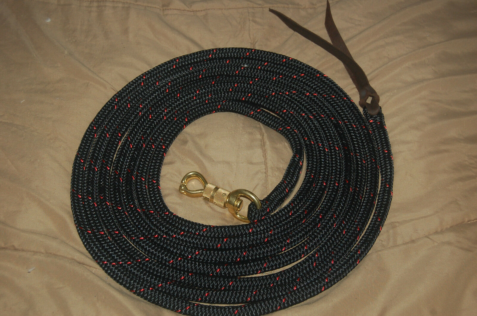 22'  LONGE LINE LEAD ROPE WITH PARELLI TWIST SNAP FOR NATURAL HORSE TRAINING  we supply the best