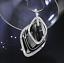 Damen-Halskette-Schmuck-Collier-Anhaenger-Silber-lang-Kette-Mode-Strass-Luxus-M5 Indexbild 2