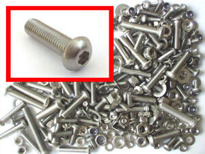 Stainless-Button-Head-Allen-Bolts-Nuts-Washers-300-Pk