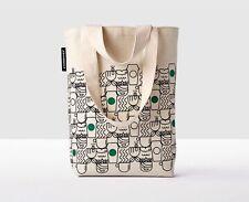 STARBUCKS Anywhere Tote Bag NWT 2017 ABSTRACT Siren Mermaid Coffee Cups Green