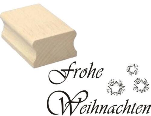 Stempel « FROHE WEIHNACHTEN » Motivstempel Sterne Advent Heiligabend Geschenk