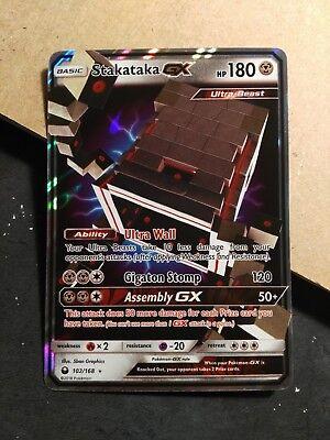 Stakataka GX 102//168 Celestial Storm Ultra Rare Near Mint Pokemon Card