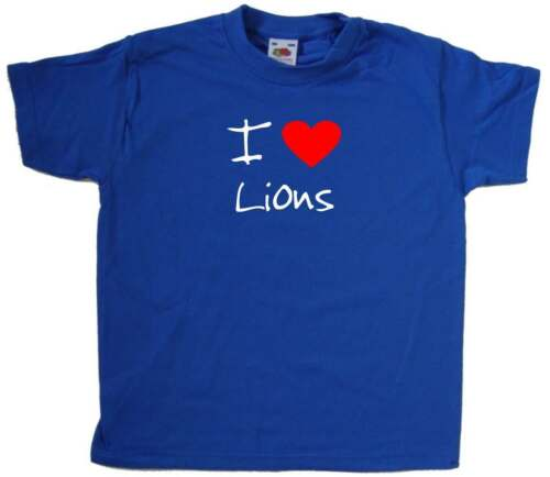 I Love Heart Lions Kids T-Shirt